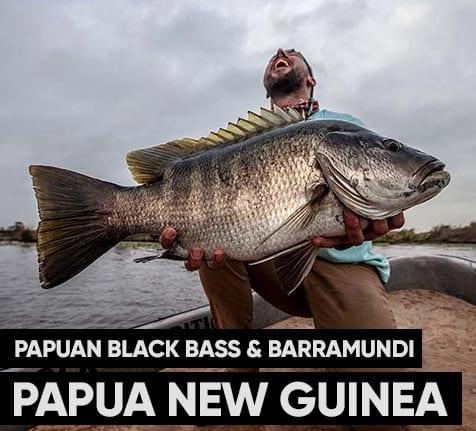 papuan black bass fishing papua new guinea menu box 1 1